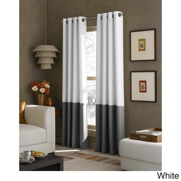 Kendall Color Block Grommet Curtain Panel Free Shipping On Orders Over 45