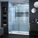 Dreamline Encore 50 54 In W X 76 In H Semi Frameless Bypass Sliding Shower Door 50 54 W