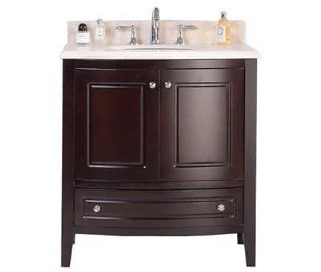 Shop Estella Collection 32 Inch Vanity With Marble Countertop Free Shipping Today Overstock 11845461