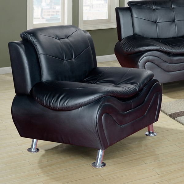 Ellena Black, Red, White Faux Leather, Wood Modern Living ...