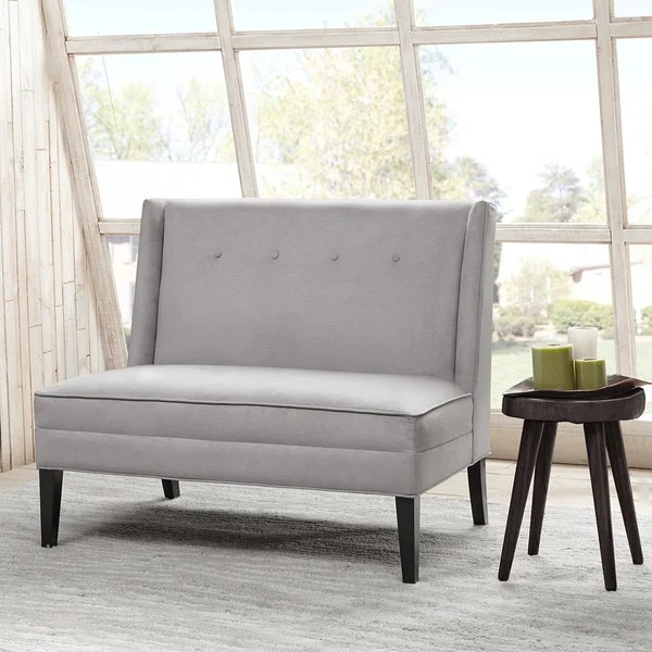 Shop Madison Park Brinley Button Tufted High Back Settee