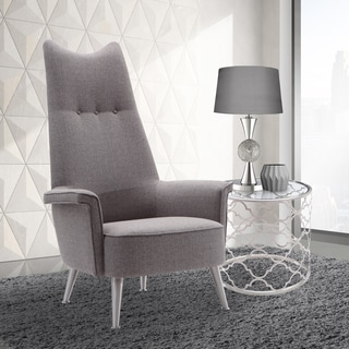 Armen Living Marilyn Chair In Brushed Steel Finish With