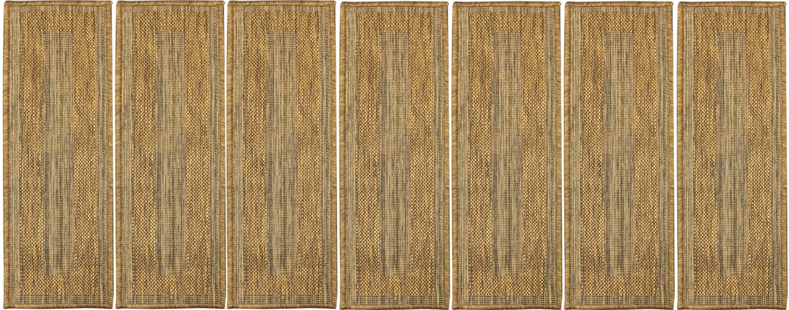 Shop Ottomanson Jardin Collection Jute Back Indoor Outdoor 9 Inch | Indoor Outdoor Carpet For Stairs | Slip Resistant Rubber Backing | Interior | Electric Blue | Stair Residential | Diamond Pattern