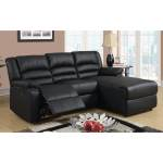 Modern Bonded Leather Small Space Sectional Reclining Sofa With Chaise Overstock 12179342