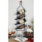 Rustic 31 X 9 Inch 4 Bottle Wall Mounted Iron Wine Rack By Studio 350 Overstock 12180091