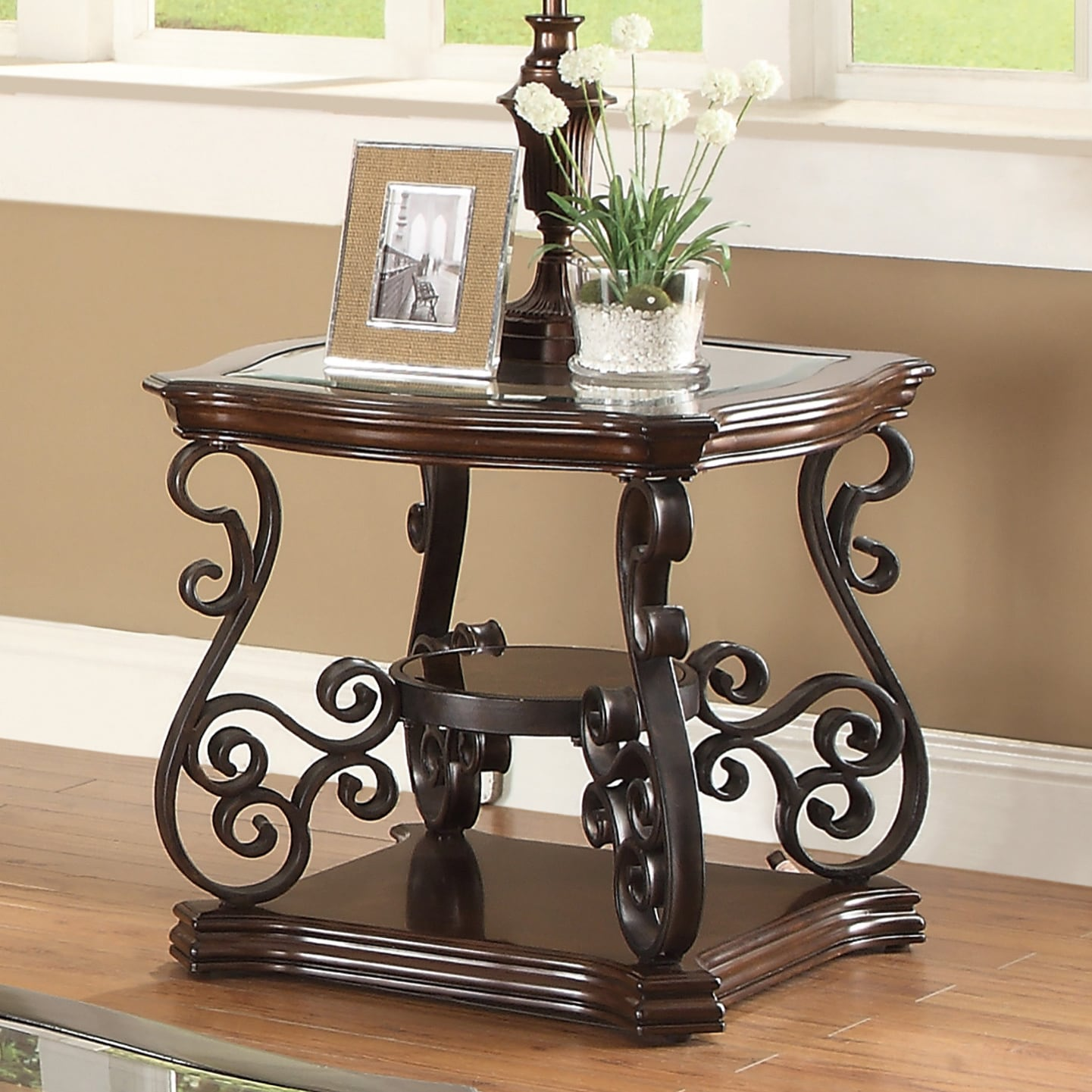Coaster Company Square Dark Brown Metal End Table Overstock 12180661