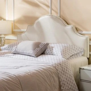 Buy Headboards Online at Overstock com   Our Best Bedroom Furniture     Bianca Adjustable Full  Queen Studded Fabric Headboard by Christopher  Knight Home
