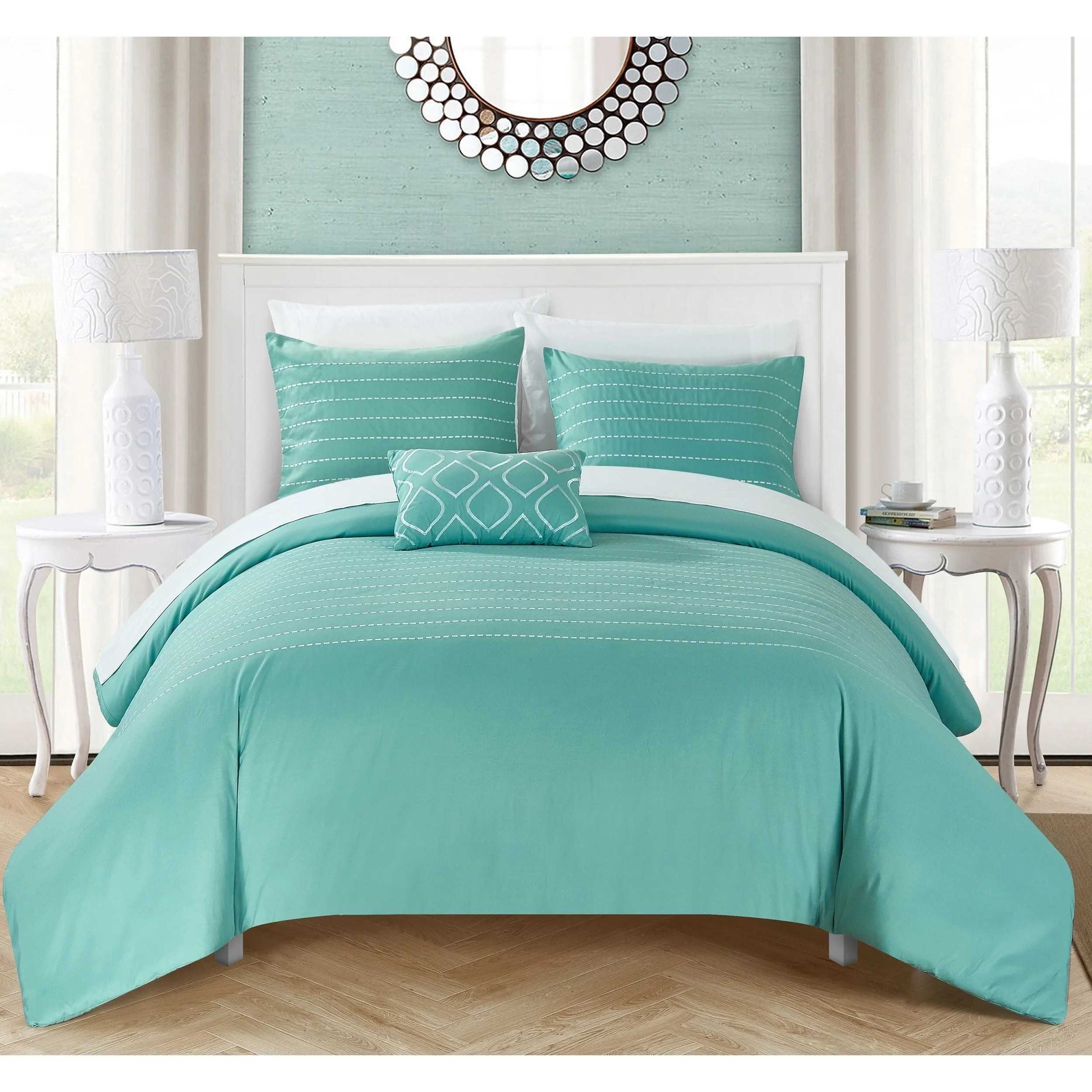 Shop Chic Home Kingston 8-Piece Turquoise Bed in a Bag ... on Teenager:_L_Breseofm= Bedroom Ideas  id=89537