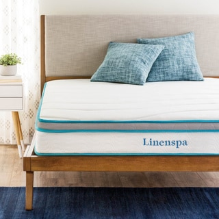 Linenspa 8 Inch Full Size Memory Foam And Spring Mattress