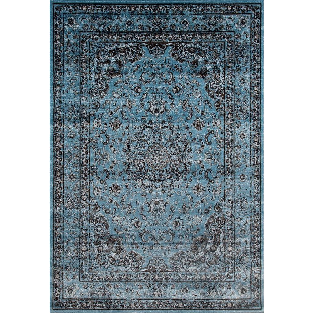 Persian Rugs Antique Styled Multi Colored Blue Base Area Rug 7 10 X 10 6