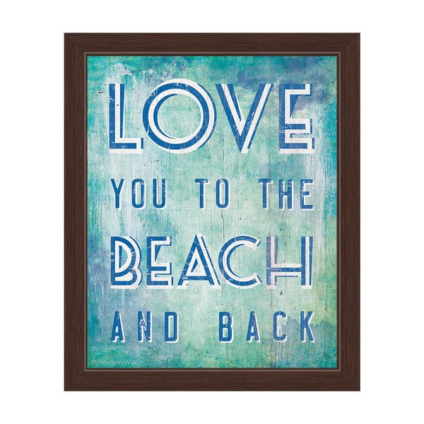 Download Shop Love You to The Beach and Back Blue Framed Canvas ...