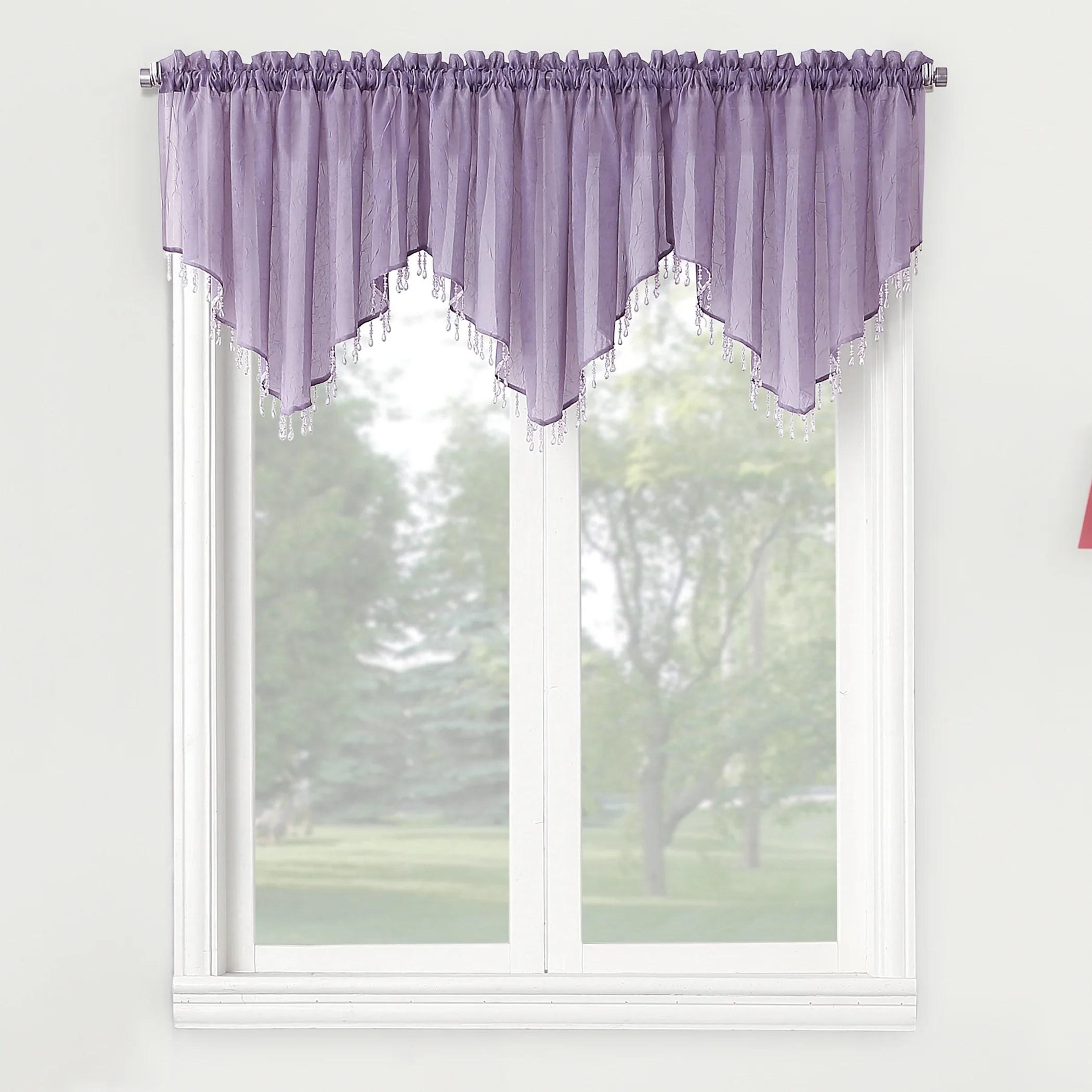 Plum Colored Window Valances