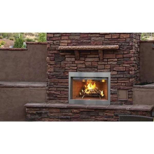 Shop WRE3036 36-inch Stainless Steel Outdoor Superior Wood ... on Quillen Steel Outdoor Fireplace id=71121