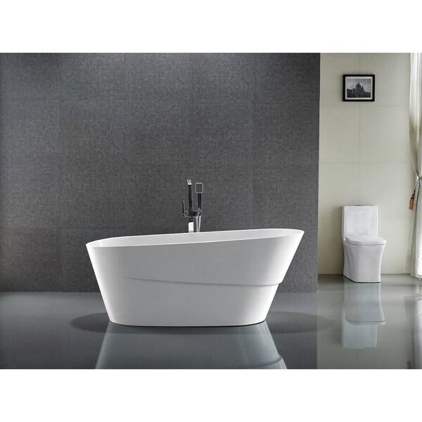 Shop Vanity Art 67 Inch Freestanding Acrylic Bathtub Stand