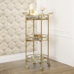 Marriot 3 Tier Cylinder Bar Cart By Abbyson Overstock 12372226