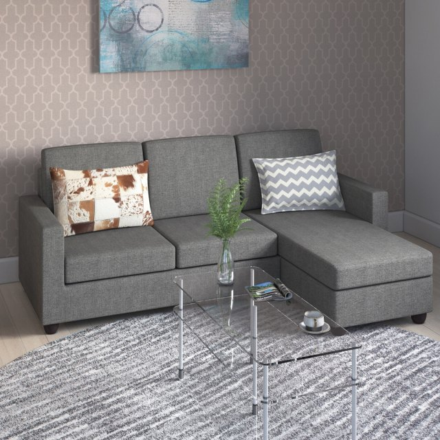 Tremont Rowley Grey Convertible Sectional Free Shipping