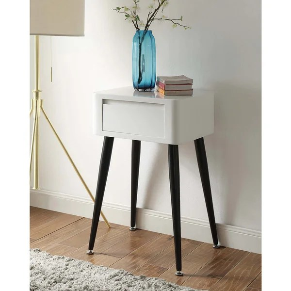 Tall Side White Table