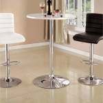 Furniture Of America Rall Contemporary Metal High Gloss Bar Table On Sale Overstock 12514669
