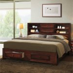 Asger Antique Oak Wood King Size Storage Platform Bed Overstock 12546181