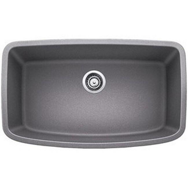 blanco valea metallic grey 1 0 super single bowl undermount sink