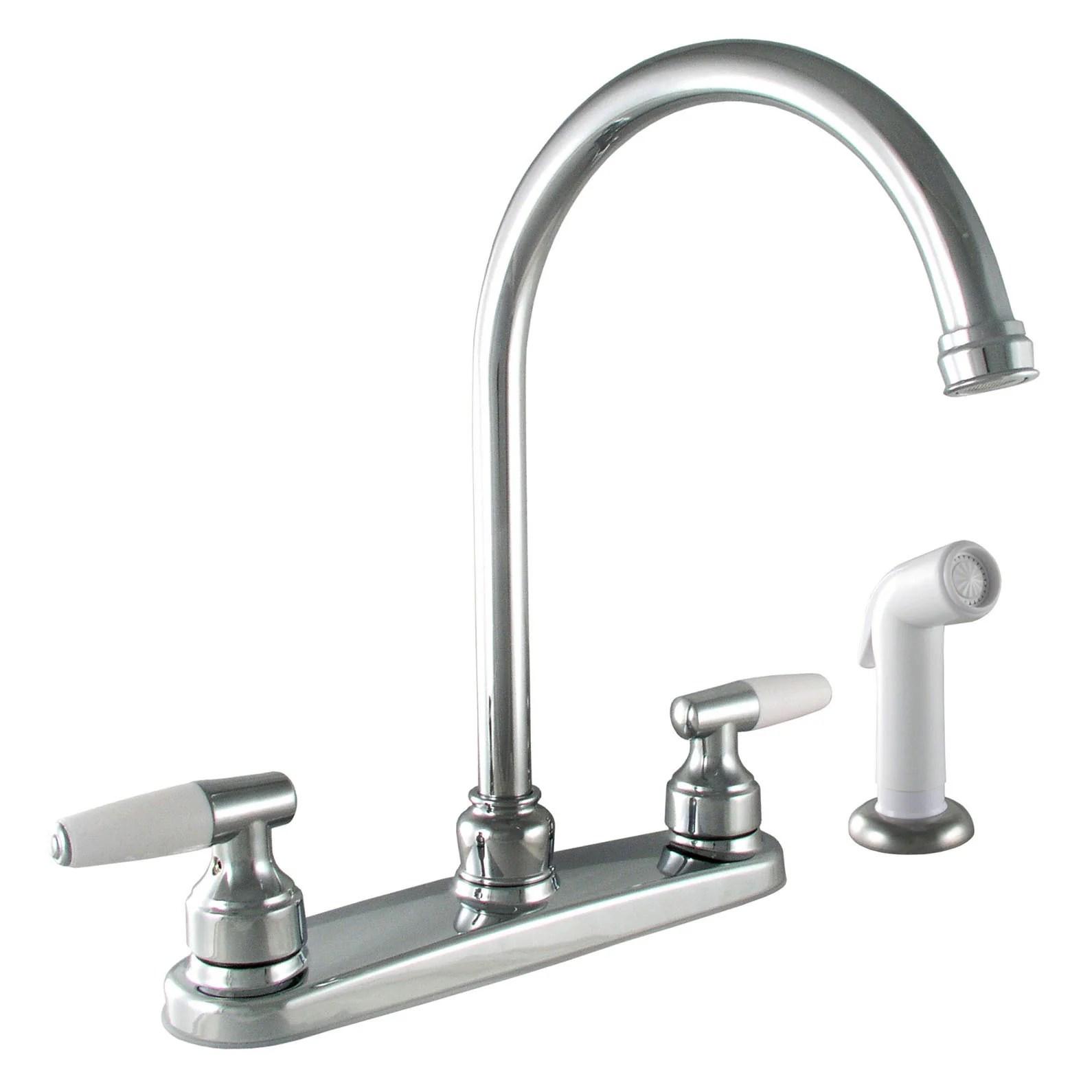 moen ca87888 chrome caldwell two handle high arc kitchen faucet