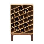 Studio 350 Wood Wine Rack 24 Inches Wide 40 Inches High Overstock 13003301
