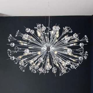 Sputnik Collection 24 Light Chrome Finish Crystal Chandelier 36 Inch X 26 Large