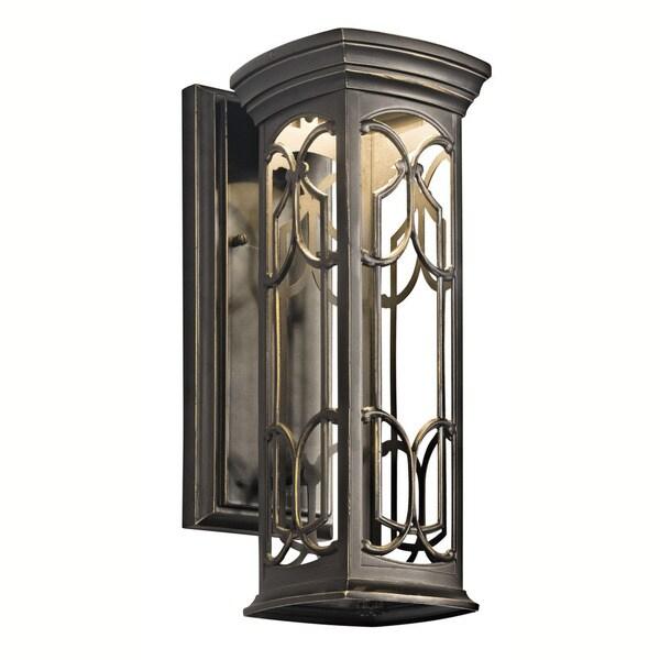 Shop Kichler Lighting Franceasi Collection 1-light Olde ... on Kichler Olde Bronze Wall Sconce id=84353