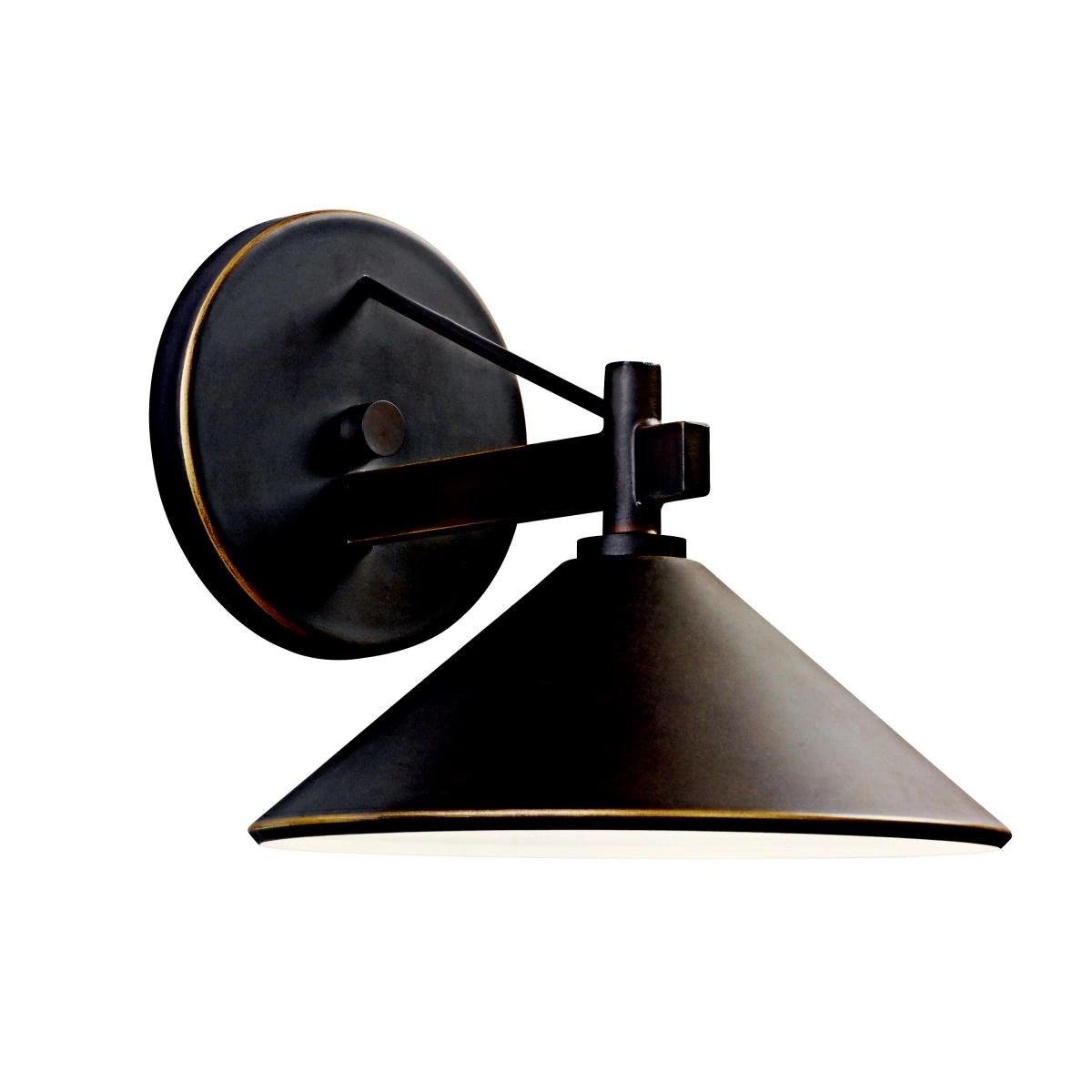 kichler lighting ripley collection 1 light olde bronze indoor outdoor wall sconce