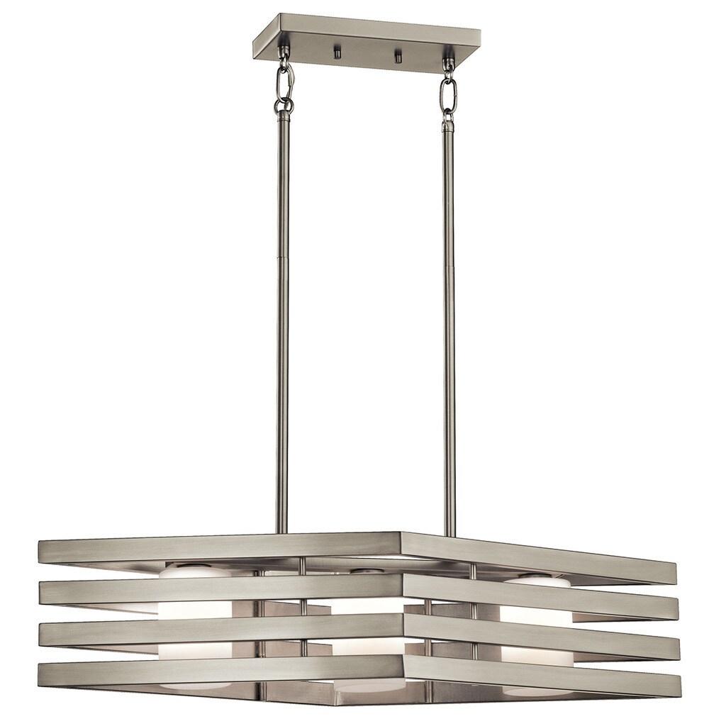 Shop Kichler Lighting Realta Collection 3 Light Brushed Nickel Halogen Chandelier Overstock 13392403