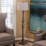 Decor Therapy Distressed Baluster Floor Lamp