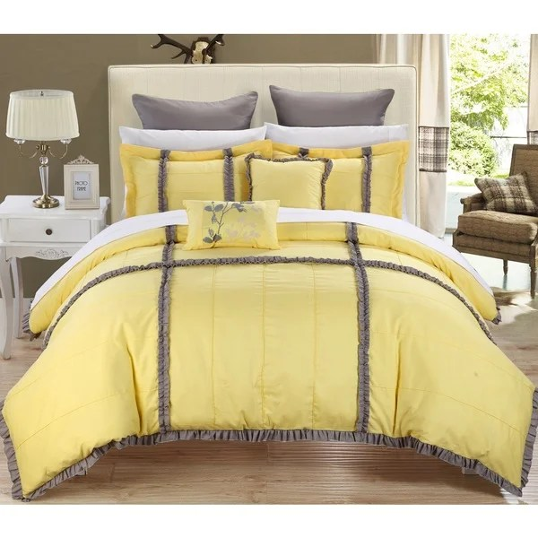 Shop Chic Home Legenda 11 Piece Yellow Bed In A Bag