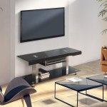 Furniture Of America Zax Contemporary 60 Inch Black Metal Tv Stand Overstock 13689912