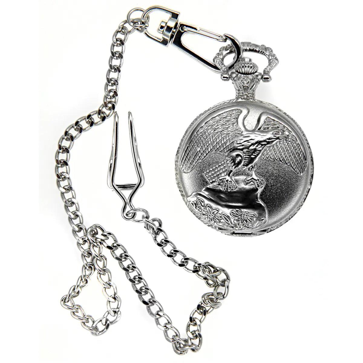 Eagle Engraved Pocket Watch