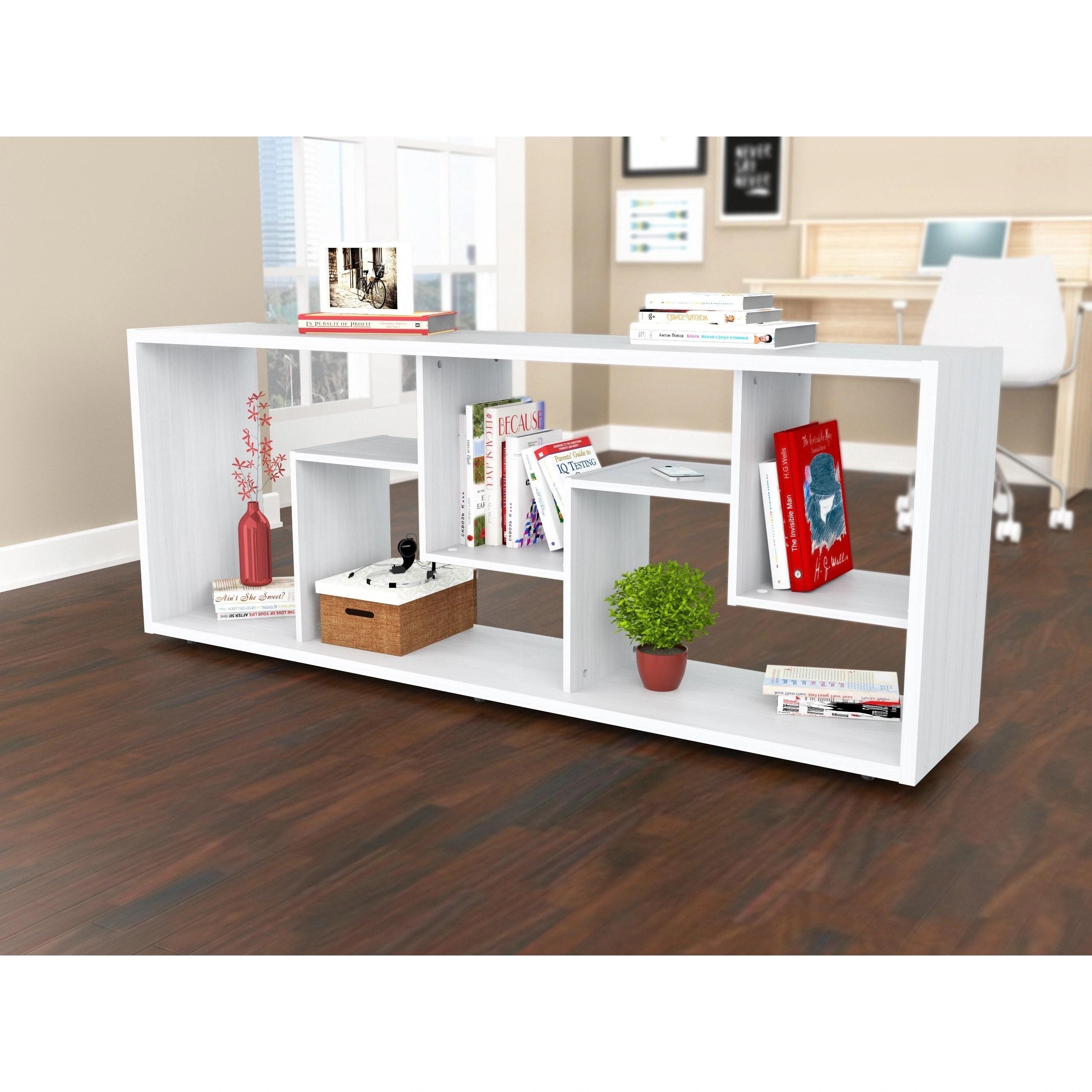 Inval Contemporary Room Divider Bookcase