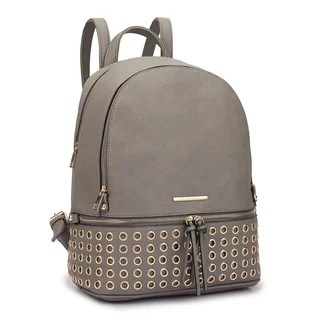 Red Backpacks   Find Great Luggage Deals Shopping at Overstock com Dasein Faux Leather Round Studded Fashion Backpack