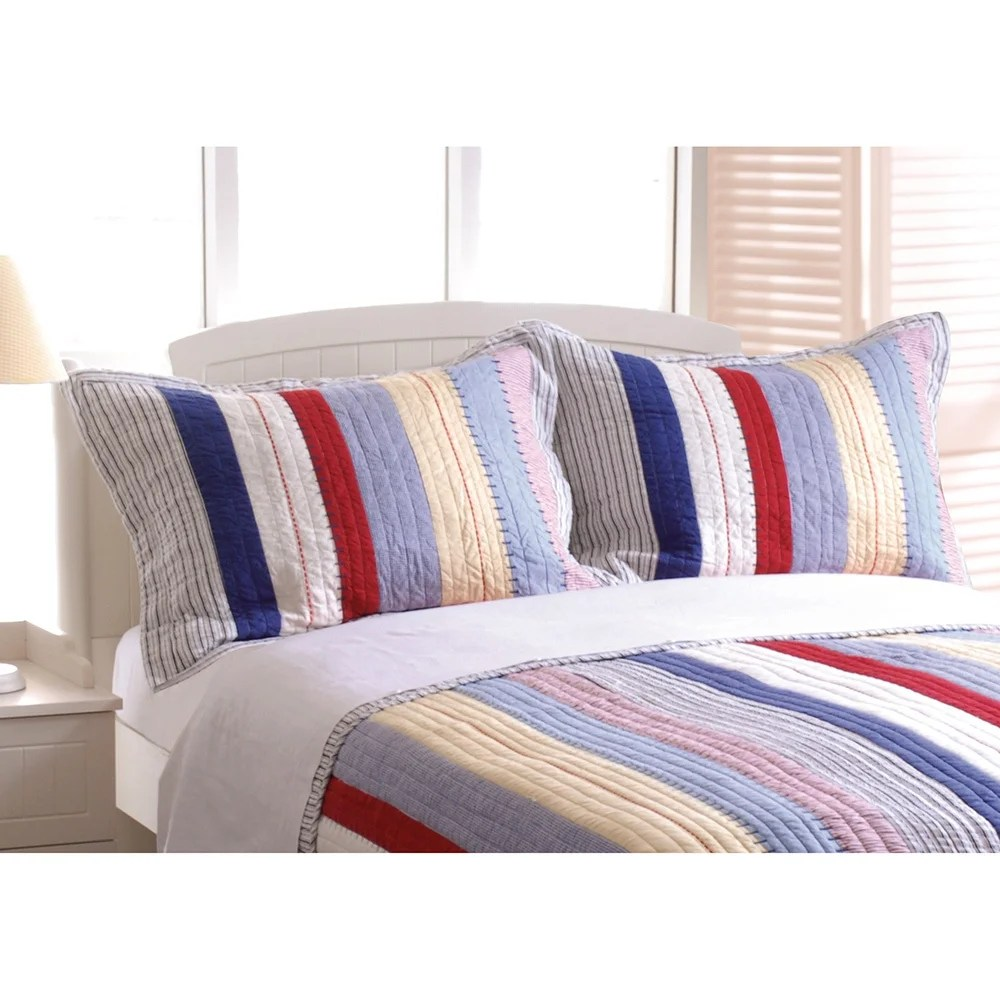 prairie stripe pillow sham set of two standard pillow shams