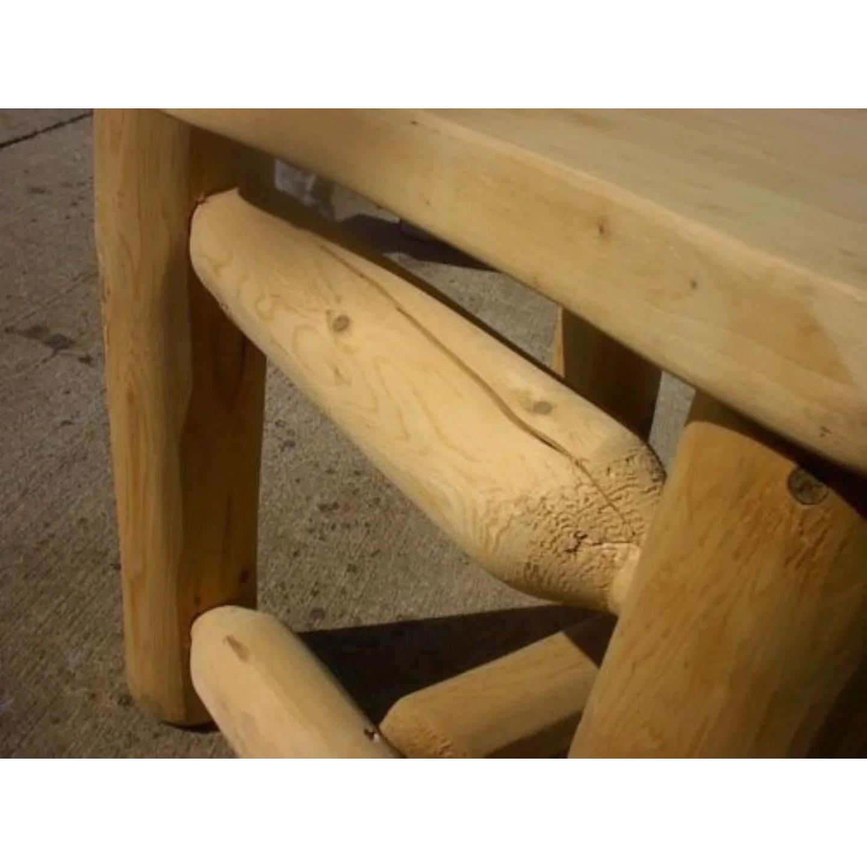 rustic white cedar log coat tree rack stand