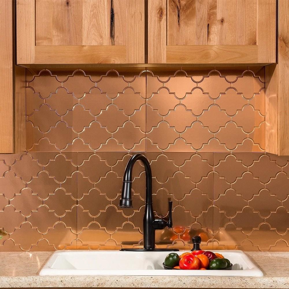 fasade monaco polished copper 15 square foot backsplash kit