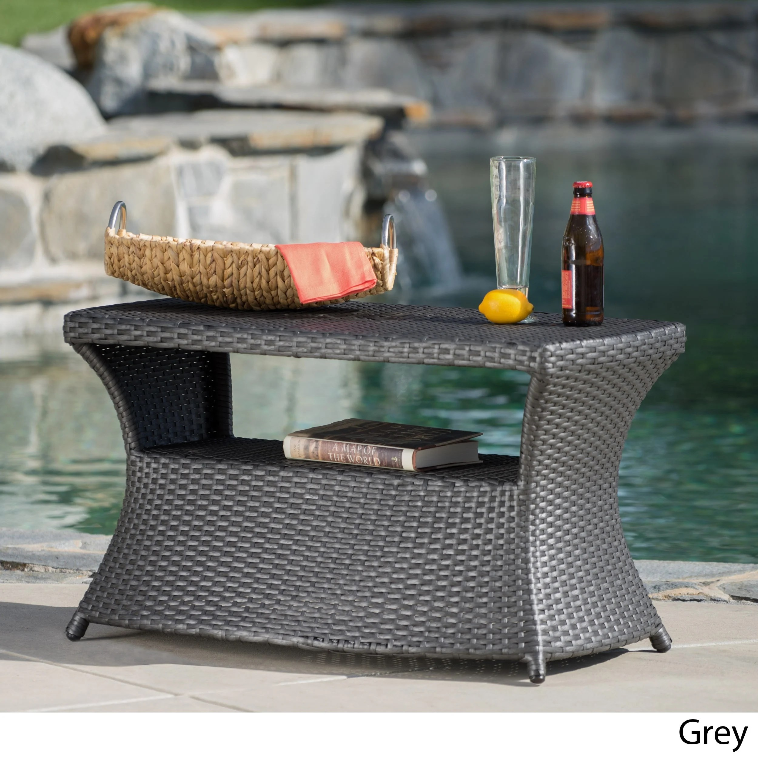 tables outsunny wicker rattan outdoor