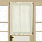 Semi Sheer 40 Inch Tailored Door Curtain Panel With Tieback 40x60 On Sale Overstock 14352920