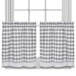Curtains Blinds Buffalo Check Gingham Kitchen Window Curtains 24 Tier Valance Set Home Furniture Diy Omnitel Com Na