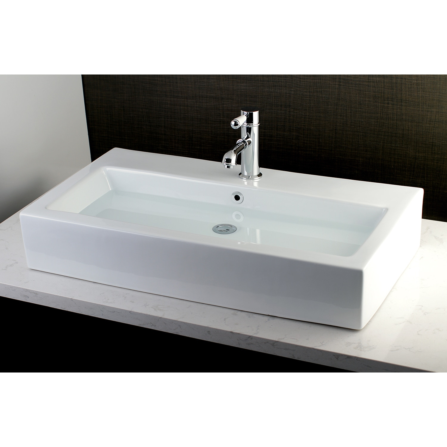 contemporary large 32 inch elongated vessel bathroom sink