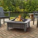 Shop Black Friday Deals On Morrison Cream Tile Outdoor Wood Burning Fire Pit By Real Flame Overstock 14681054