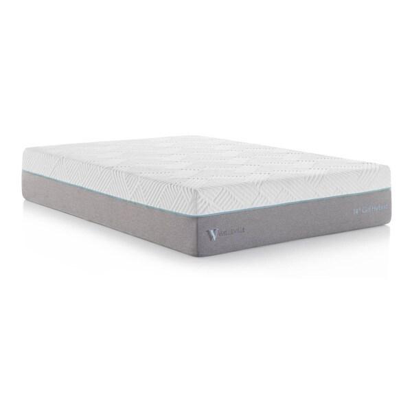 Wellsville 14 Inch Split Queen Size Gel Memory Foam Hybrid Mattress