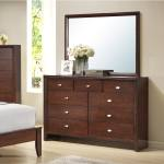 Shop Black Friday Deals On Gloria 351 Brown Cherry Finish Wood Dresser And Mirror Overstock 15297048