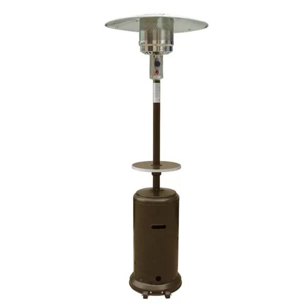 hiland patio heater in hammered bronze