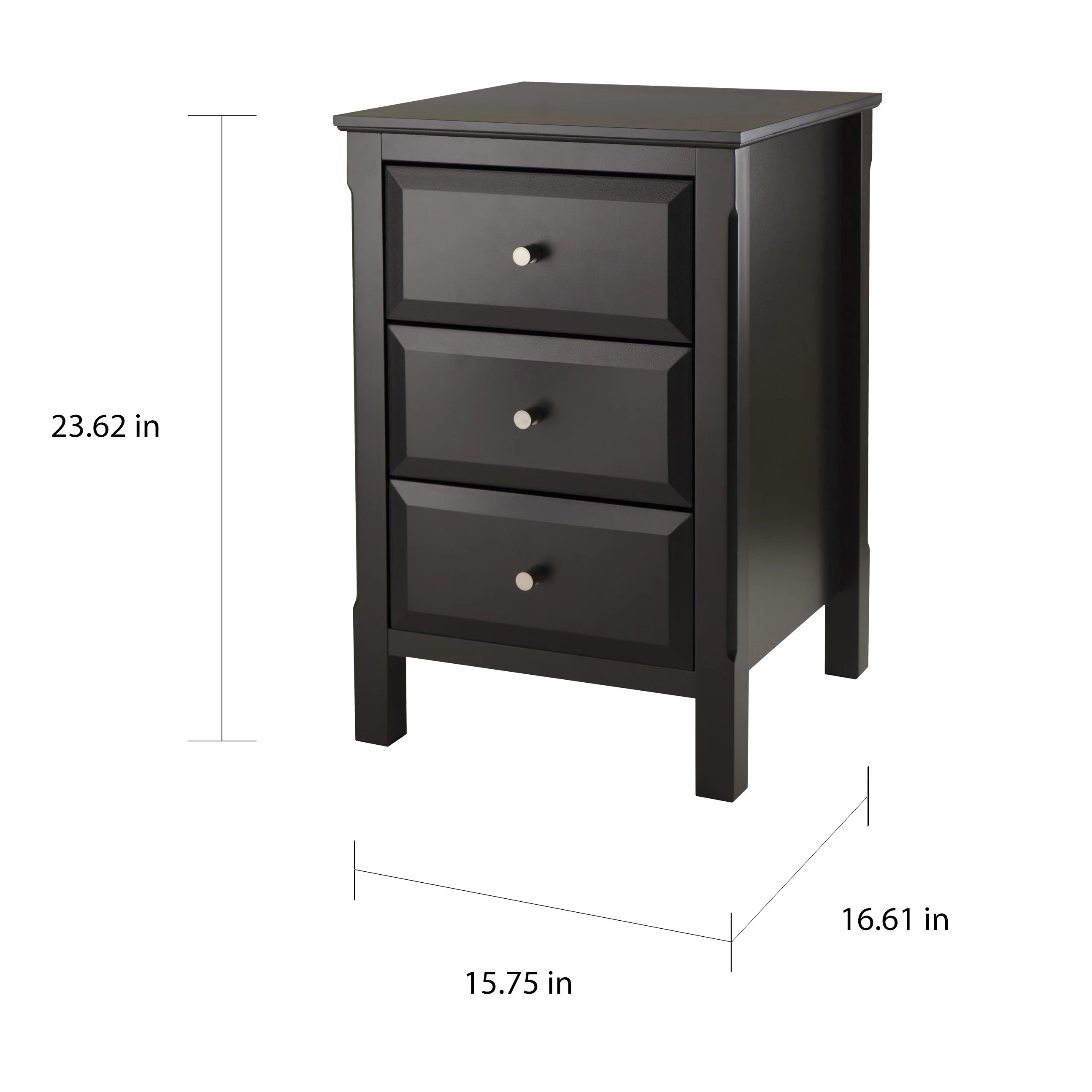 Timmy Black Night Stand And End Table