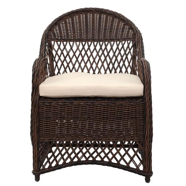 Shop Safavieh Outdoor Living Davies Brown/ Beige Wicker ... on Outdoor Living Wicker id=53488