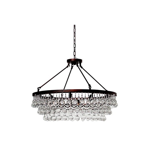 Celeste Oil Rubbed Bronze Glass Drop Crystal Chandelier N A